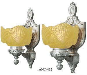 Vintage Shell Wall Lights : Vintage Hardware & Lighting