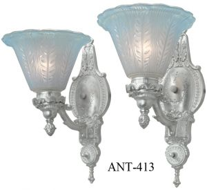 Lovely Pair of Circa 1920 Large Wall Sconces (ANT-413)