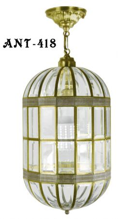Mid Century Modern Beveled Glass Pendant Light CA Title 24 Compliant (ANT-418)