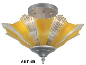 Art Deco Streamline Single Light Pendant (ANT-421)