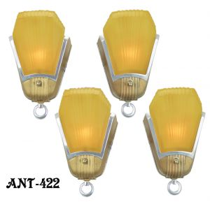 Set of FOUR Art Deco Streamline Sconces by Mid-West Mnf (ANT-422)