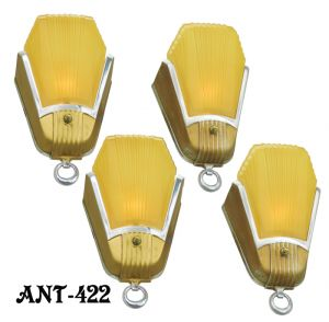 Set-of-FOUR-Art-Deco-Streamline-Sconces-by-Mid-West-Mnf-(ANT-422)