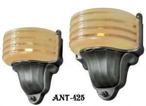American Art Deco STREAMLINE Sconces by Virden (ANT-425)