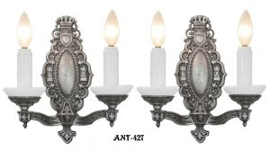 Art Deco Double Arm Candle Sconces (ANT-427)
