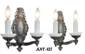 Art-Deco-Double-Arm-Candle-Sconces-(ANT-427)