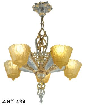 "Art Deco ""Nile"": Chandelier by Lincoln Mnf (ANT-429)"