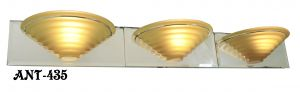 Contemporary 3 Light Mirrored Wall Sconce for Bathroom Sink or Vanity (ANT-435)