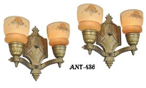 Pair of Circa 1920-1935 Art Deco Wall Sconces (ANT-436)