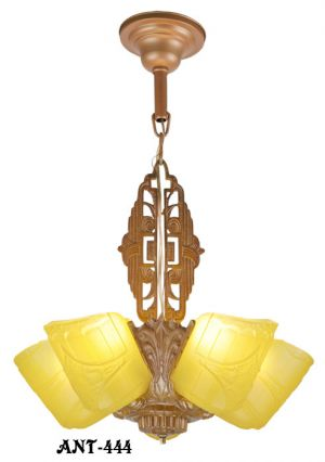 Art-Deco-Slip-Shade-5-Light-Chandelier-(ANT-444)