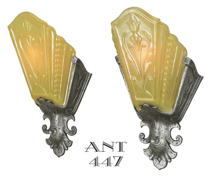 ANT-447__a_Art_Deco_Wall_Sconces_Lights_Lighting_Fixtures_Slip_Shades_Amber.jpg