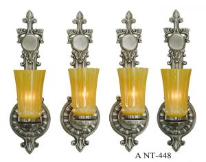 Antique-Art-Deco-Wall-Sconces-Circa-1920s---Set-of-Four-(ANT-448)