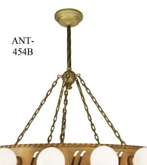 Large-Bare-Bulb-Antique-1920's-Bank-Chandelier-(ANT-454B)