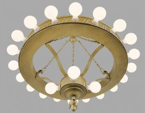 Large-Bare-Bulb-1920's-Bank-Chandelier-(ANT-454)