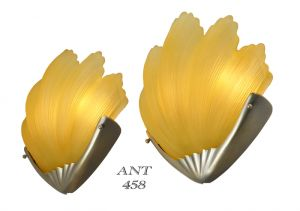 Art Deco Odeon Style British Clam Shell Motif Theatre Sconces (ANT-458)