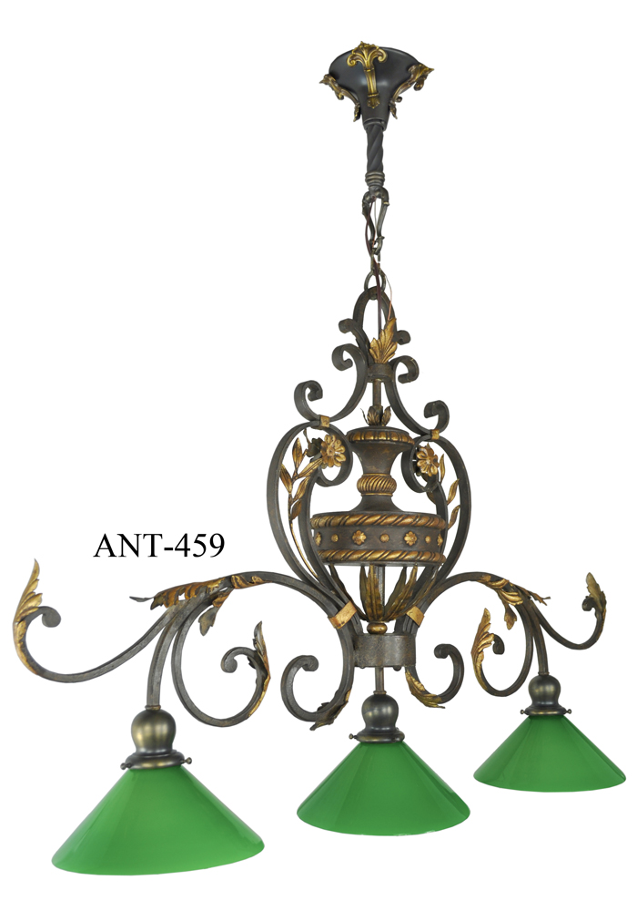 Antique Pool Table Light Fixture (ANT 459). Description