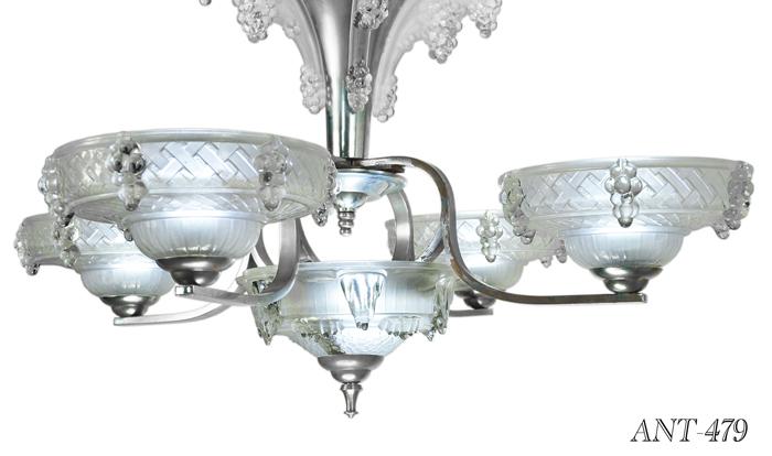Vintage hardware lighting french art deco 5 light ezan icicle quantity aloadofball Image collections