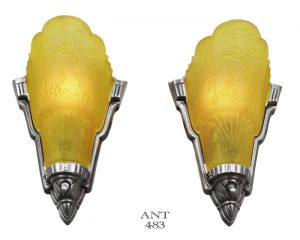American-Art-Deco-Pair-of-Slip-Shade-Wall-Sconces-by-Globe-Circa-1933-(ANT-483)