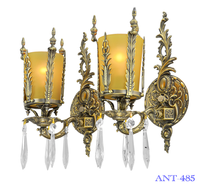 Art Deco Style Pair Of Antique Wall Sconce Lights Circa 1920 1930 Ant 485