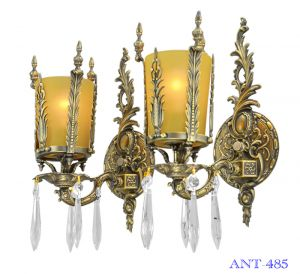 Art Deco Style Pair of Antique Wall Sconce Lights Circa 1920 - 1930 (ANT-485)