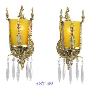 Art-Deco-Style-Pair-of-Antique-Wall-Sconce-Lights-Circa-1920---1930-(ANT-485)