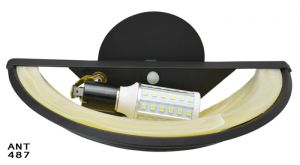 Modern-Pair-of-Pocket-Wall-Sconces-with-LED-Lights-Amber-Black-Color-(ANT-487)