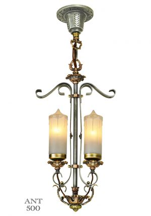 1920s Art Deco Candle Style Pendant Ceiling Light (ANT-500)