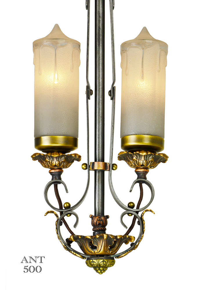 Vintage Hardware Amp Lighting 1920s Art Deco Candle Style Pendant Ceiling Light Ant 500