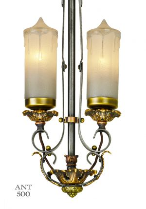 1920s-Art-Deco-Candle-Style-Pendant-Ceiling-Light-(ANT-500)
