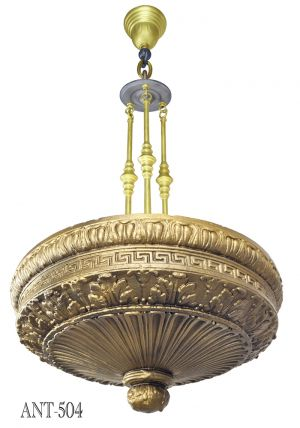Edwardian Cast Composition Plaster Ceiling Bowl Chandelier Lights (ANT-504)