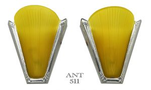 Art-Deco-Nickel-Plated-French-Wall-Lights-with-Slip-Shades-Circa-1935-(ANT-511)