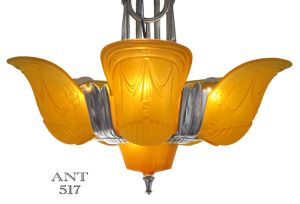Art-Deco-Streamline-Chandelier-1930s-6-Light-Ceiling-Fixture-by-Globe-(ANT-517)