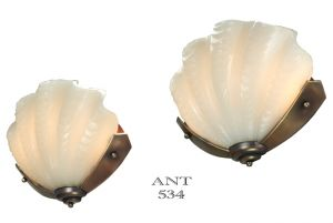Art Deco Clamshell Odeon Theater Wall Sconces Antique Theatre Lights (ANT-534)