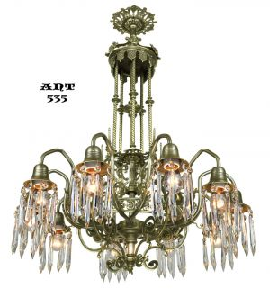 Antique Crystal Chandelier Gothic Style 10 Arm Ceiling Light Fixture (ANT-535)