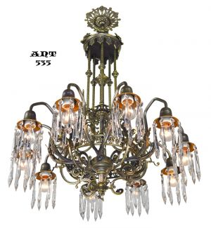 Antique-Crystal-Chandelier-Gothic-Style-10-Arm-Ceiling-Light-Fixture-(ANT-535)