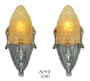 Art-Deco-American-Wall-Sconces-Lights-by-Mid-West-Mnf-Circa-1935-(ANT-536)