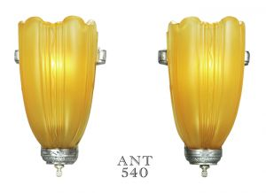 Streamline-Art-Deco-Lighting-Slip-Shade-Wall-Sconces-Circa-Mid-1930s-(ANT-540)
