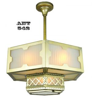 Arts-and-Crafts-Gothic-Style-Hexagonal-Ceiling-Panel-Light-Chandelier-(ANT-542)