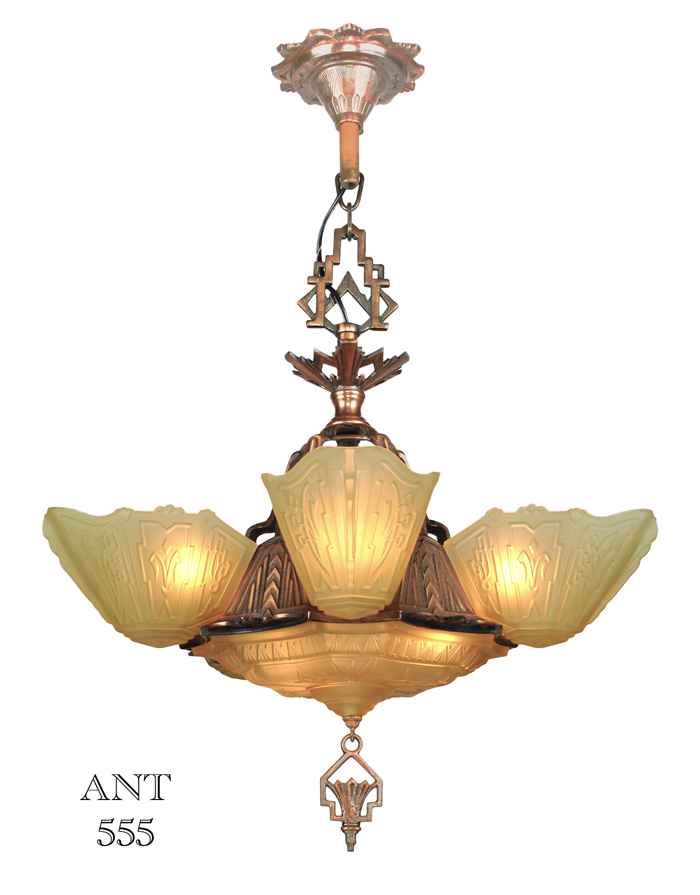 Vintage hardware lighting art deco antique 1930s chandelier with sold call to request similar mozeypictures Gallery