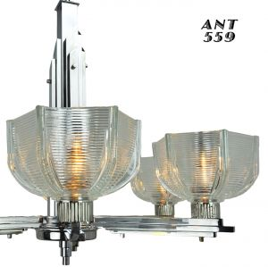 Art-Deco-Streamline-Early-Modern-6-Arm-French-Chandelier-Circa-1930s-(ANT-559)