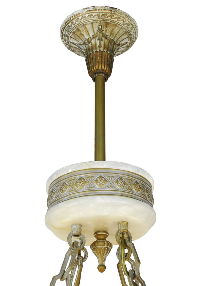 Vintage Hardware Amp Lighting Art Deco Grand Alabaster