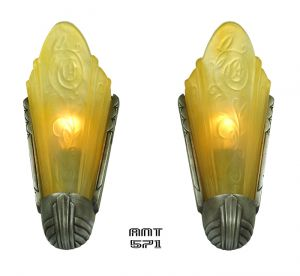Art-Deco-Pair-of-Antique-Slip-Shade-Wall-Sconces-by-Riddle-Circa-1935-(ANT-571)