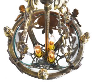 Victorian-NeoClassical-Entry-Pendant-Fixture-with-Candle-Tube-Lights-(ANT-578)