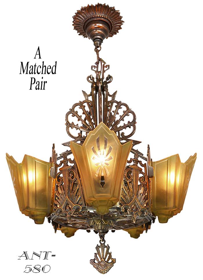 Antique Art Deco Chandelier Antique Furniture