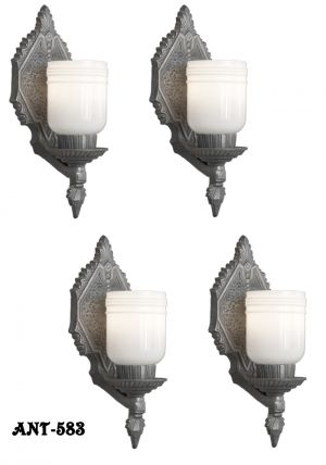 Set-of-Four-Matching-Arts-and-Crafts-Antique-Wall-Sconces-(ANT-583)