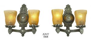 Edwardian-Wall-Sconces-Antique-Two-Arm-Lights-Grapevine-Motif-Fixtures-(ANT-588)