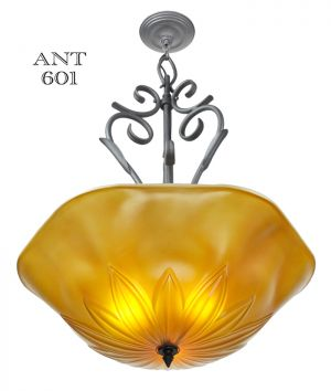Tuscan-Mediterranean-Type-Large-Ceiling-Bowl-Chandelier-Light-Fixture-(ANT-601)