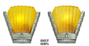 Art-Deco-Streamline-Design-Pair-of-Antique-Wall-Sconces-by-Mid-West-(ANT-604)
