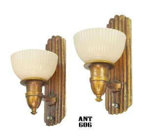 Art-Deco-Wall-Sconces-with-Custard-Cup-Shades-Circa-Late-1930s-Lights-(ANT-606)