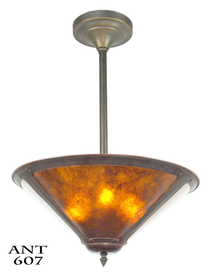 Vintage Hardware Lighting Mission Style Or Arts Crafts Ceiling Bowl Pendant Light Fixture Ant 607
