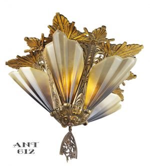Antique-Art-Deco-Flush-Mount-Short-Ceiling-Light-Chandelier-Mid-West-(ANT-612)